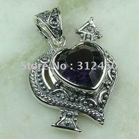 Joyas de plata caliente ventas hechas a mano de piedras preciosas joyas amethsyt envío gratis LP0067 (China (continental))