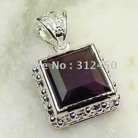 Ventas caliente 5PCS joyería de plata hechos a mano de piedras preciosas joyas gratis amethsyt LP0041 de envío (China (continental))