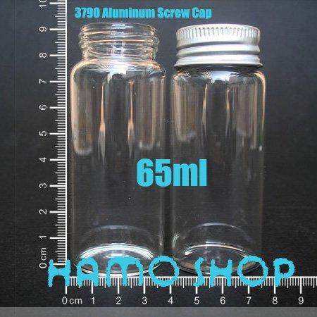 Glass Bottle Threaded Aluminum Cap Oil Clear High Borosilicate Vial Wishing
