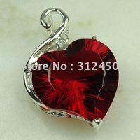 Joyería de moda de plata hechos a mano de piedras preciosas de color rojo Kunzite envío joyas gratis LP0478 (China (continental))