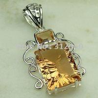 Joyería de moda de plata hechos a mano de piedras preciosas joyas morganita envío gratis LP0477 (China (continental))