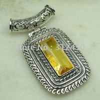 Joyería de moda de plata hechos a mano de piedras preciosas joyas citrino libre LP0471 de envío (China (continental))