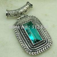 Joyería de moda de plata hechos a mano verde amatista envío prasiolite joyas de piedras preciosas sin LP0494 (China (continental))