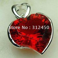 Joyas de plata Suppry hechos a mano de piedras preciosas de color rojo Kunzite envío joyas gratis LP0480 (China (continental))