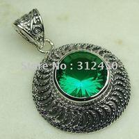 Joyería de moda de plata hechos a mano verde amatista prasiolite piedras preciosas joyas gratis LP0462 de envío (China (continental))