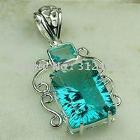 Joyería de moda de plata hechos a mano verde amatista envío prasiolite joyas de piedras preciosas sin LP0475 (China (continental))