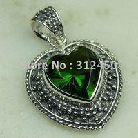 Joyería de moda de plata hechos a mano peridoto natrual envío joyas de piedras preciosas sin LP0465 (China (continental))
