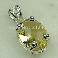 Wholeasle joyería de plata hechos a mano de piedras preciosas joyas luz citrino envío gratis LP0456 (China (continental))