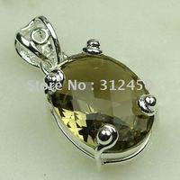 Wholeasle joyería de plata hechos a mano, cuarzo ahumado piedras preciosas joyas gratis LP0487 de envío (China (continental))