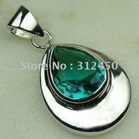 Moda Suppry joyería de plata hechos a mano verde amatista envío prasiolite joyas de piedras preciosas sin LP0490 (China (continental))