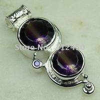 Suppry 5PCS moda de joyería de plata hechos a mano de piedras preciosas joyas topacio místico envío gratis LP0482 (China (continental))