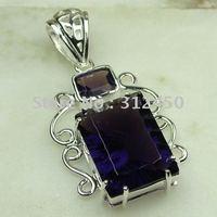 Suppry 5PCS moda de joyería de plata hechos a mano, joyas de piedras preciosas la amatista de envío gratis LP0455 (China (continental))