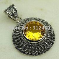 Suppry 5PCS moda de joyería de plata hechos a mano de piedras preciosas joyas citrino libre LP0452 de envío (China (continental))