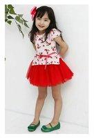 Платье для девочек Blue and white suspenders skirt