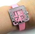 Envío gratis por mayor Nueva silicona reloj deportivo, reloj de cuarzo, reloj de pulsera, reloj dama