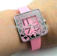 Envío gratis por mayor Nueva silicona reloj deportivo, reloj de cuarzo, reloj de pulsera, reloj dama (China (continental))