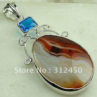 Joyas de plata caliente ventas hechas a mano de piedras preciosas joyas de ágata libre LP0402 de envío (China (continental))
