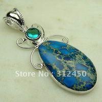 Joyas de plata caliente ventas hechas a mano de piedras preciosas imperial cono colgante envío joyas gratis LP0373 (China (continental))