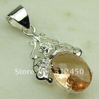 Las ventas de joyas de plata caliente morganita colgante de piedras preciosas joyas de envío gratis a LP0377 (China (continental))
