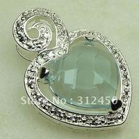 Las ventas de joyas de plata caliente cielo azul topacio colgante de piedras preciosas joyas de envío gratis a LP0370 (China (continental))