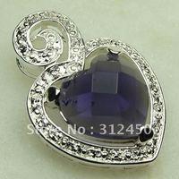 Las ventas de plata caliente colgante de piedras preciosas joyas con amatistas joyas envío gratis LP0368 (China (continental))