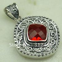 Wholeasle suppry joyería de plata de color rojo Kunzite piedra colgante de joyería envío gratis LP0134 (China (continental))