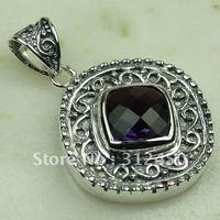 Wholeasle suppry joyas de plata de la piedra preciosa amatista colgante de joyería de envío gratis a LP0130 (China (continental))