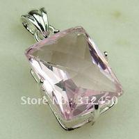 Wholeasle suppry joyería de plata topacio rosa colgante de piedras preciosas joyas de envío gratis a LP0394 (China (continental))