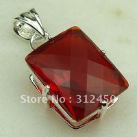 Wholeasle suppry plata joyería de piedras preciosas de color rojo Kunzite colgante de joyería de envío gratis a LP0378 (China (continental))