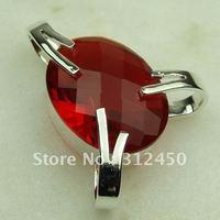 Wholeasle suppry plata joyería de piedras preciosas de color rojo Kunzite colgante de envío gratis a LP0397 joyas (China (continental))