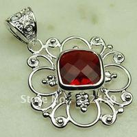 Nueva plata suppry joyas de piedras preciosas de color rojo Kunzite joyería colgante libre LP0132 de envío (China (continental))