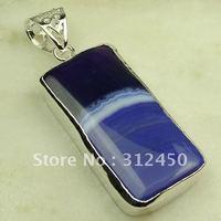 Nueva plata suppry joyas de ágata púrpura colgante de piedras preciosas joyas de envío gratis a LP0399 (China (continental))
