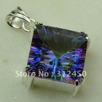 Nueva plata suppry joyas de piedras preciosas joyas topacio místico colgante libre LP0361 de envío (China (continental))