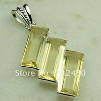 Wholeasle 5PCS suppry plata joyería de piedras preciosas citrino luz colgante joyas envío gratis LP0375 (China (continental))