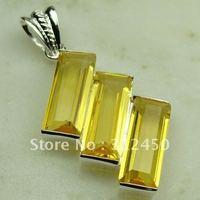 Wholeasle 5PCS suppry plata joyería de piedras preciosas citrino colgante joyas envío gratis LP0392 (China (continental))