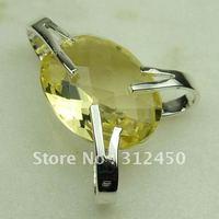 5PCS plata suppry joyas luz citrino piedra colgante de joyería de envío gratis a LP0396 (China (continental))