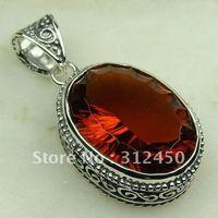 Joyas de plata caliente ventas hechas a mano de piedras preciosas joyas carnet colgante envío gratis LP0685 (China (continental))
