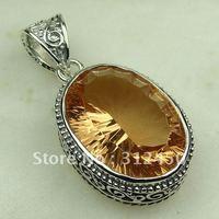 Suppry joyería de plata hechos a mano 5PCS piedras preciosas joyas colgantes morganita envío gratis LP0684 (China (continental))