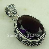 Wholeasle joyería de plata hechos a mano, joyas de amatista colgante de piedras preciosas sin LP0682 de envío (China (continental))