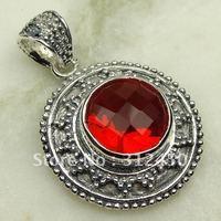 Wholeasle joyería de plata hechos a mano 5PCS rojo Kunzite piedra colgante de joyería libre LP0642 de envío (China (continental))