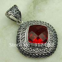 Wholeasle joyería de plata hechos a mano de piedras preciosas de color rojo Kunzite pendiente de envío joyas gratis LP0649 (China (continental))