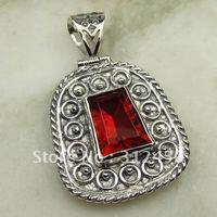 Suppry joyería de plata hechos a mano 5PCS rojo Kunzite piedra colgante de joyería libre LP0641 de envío (China (continental))