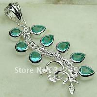 Suppry 5PCS joyería de plata verde amatista colgante de piedras preciosas joyas prasiolite envío gratis LP0398 (China (continental))