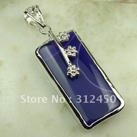 Joyería hecha a mano de plata púrpura ágata de piedras preciosas joyas colgantes envío gratis LP0691 (China (continental))