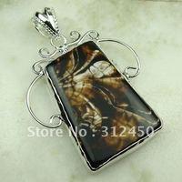 Wholeasle joyería hecha a mano de plata colgante de piedras preciosas joyas de ágata envío gratis LP0687 (China (continental))