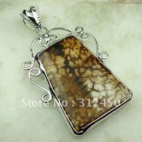 Wholeasle 5PCS joyería hecha a mano de plata colgante de piedras preciosas ágata envío gratis LP0690 joyas (China (continental))