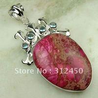 Joyería de moda de plata hechos a mano de piedras preciosas naturales imperial cono joyas gratis LP0741 de envío (China (continental))