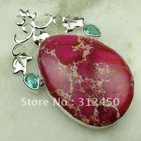 Joyería de moda de plata hechos a mano de piedras preciosas naturales imperial cono joyas gratis LP0742 de envío (China (continental))