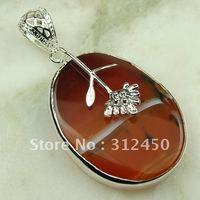 Joyería de moda de plata hechos a mano, joyas de piedras preciosas ágata de envío gratis LP0740 (China (continental))