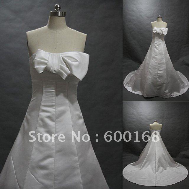 2011 Classical Design Satin With Bow Zhenzhen Wedding Dress WD1145